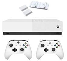 Microsoft Xbox One S ALL DIGITAL 1TB Bundle 2Gamepad white With Dual Charging Dock